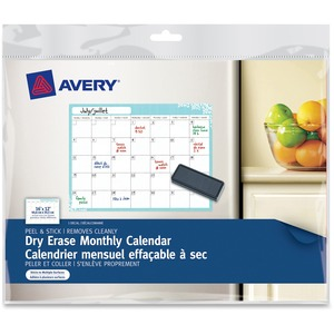 Dry Erase Monthly Calendar, 24820, Removable, Peel & Stick, 16""