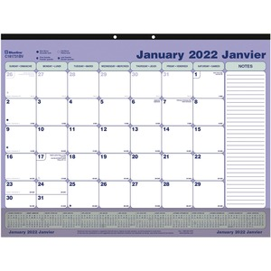 Bilingual Monthly Desk Pad