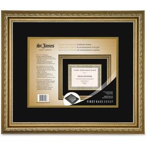 Awards & Certificate Frame. Florentine Gold Double Mat