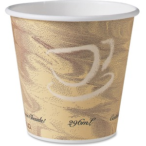 10oz Paper Hot Drink Cup Squat Mistique Design