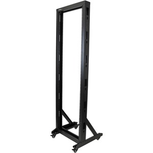 StarTech 2-Post Server Rack with Casters - 42U
