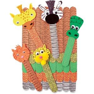 Roylco, Inc Roylco Wild Animal Craft Sticks - 50 / Pack - Assorted