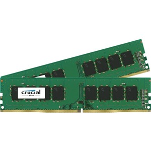 Crucial 16GB Kit 2x8GB DDR4-2133 UDIMM PC4-17000 CL15 Single Ranked 1.2V Unbuffered 288PIN Memory