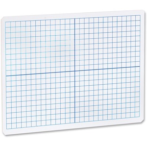 Flipside Products, Inc Flipside Grid/plain 2SIDE Dryerase Lap Board - 12 (1 Ft) Width X 9 (0.8 Ft) Height - White Surface - Rectangle - Portable - 1 Each