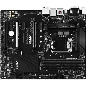 MSI C236A ATX LGA1151 C236 DDR4 3PCI-E16 3PCI-E1 SATA3 M.2 USB3.1 Workstation Motherboard