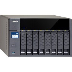 QNAP TS-831X-8G-US 8BAY Quad Core 1.7GHZ 8GB 2X1GBE 2X10GBE SFP+ NAS W/HW Encryption