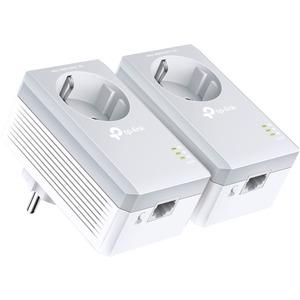 TP-LINK TL-PA4010P Kit AV500 Powerline Adapter With AC Pass Through Starter Kit