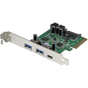 StarTech 5-Port USB 3.1 (10Gbps) Combo Card - 1x USB-C, 2x USB-A + 2x IDC (5Gbps) - PCIe