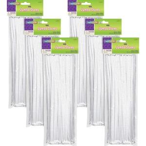 Pacon Corporation Creativity Street Jumbo Bendable Stems - 12 X 0.2 - 600 / Bag - White