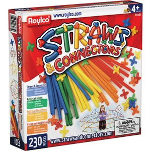Roylco, Inc Roylco Straws & Connectors Building Set - 230 Piece(S) - 230 / Pack - Assorted