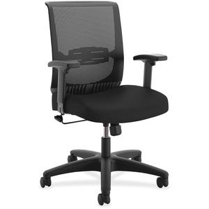 The Hon Company Hon Convergence Task Chair - Fabric Black, Foam Seat - 5-star Base - 26.9 Width X 26 Depth X 39.9 Height