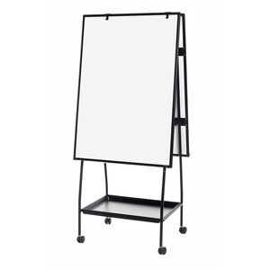 Bi-silque S.a Mastervision Melamine Double-sided Easel - 29.5 (2.5 Ft) Width X 41.7 (3.5 Ft) Height - Melamine Surface - Black Aluminum Frame - Black Standard - Rectangle - Portable - Assembly Required - 1 Each - Taa Compliant