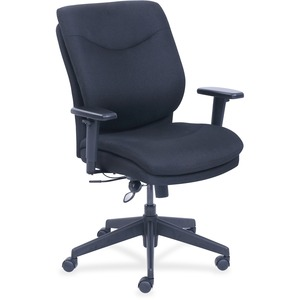 Lorell Infinity Task Chair - Fabric Black Seat - Bonded Leather Black Back - 5-star Base - 27.5 Width X 27 Depth X 45.3 Height