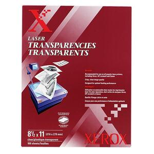 "Xerox Clear Transparencies - Letter - 8.5"" x 11"" - 100 / Box"
