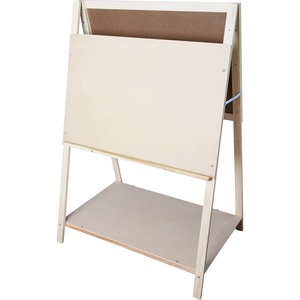 Flipside Products, Inc Flipside Teaching Easel - 35 (2.9 Ft) Width X 22 (1.8 Ft) Height - White Masonite Surface - Rectangle - Horizontal - Assembly Required - 1 Each