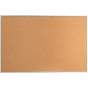 Lorell Aluminum Frame Cork Board - 36 Height X 48 Width - Cork Surface - Long Lasting, Warp Resistant - Brown Aluminum Frame - 1 Each