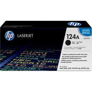 HP 124A Black Original LaserJet Toner Cartridge HEWQ6000A