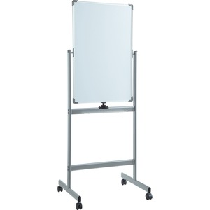 Lorell Vertical Magnetic Whiteboard Easel - 24 (2 Ft) Width X 36 (3 Ft) Height - White Surface - Square - Vertical - Floor Standing - 1 Each