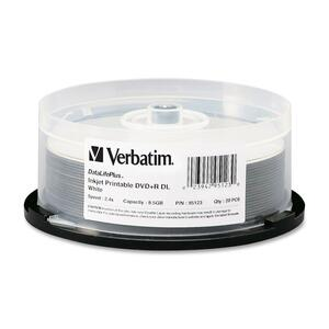 Verbatim DataLifePlus 95123 DVD Recordable Media - DVD+R DL - 2.4x - 8.50 GB - 20 Pack Spindle VER95123