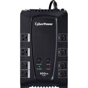 CYBER POWER SYSTEM - DT SB 800VA UPS COMPACT QUIET AVR GREEN 8OUT 5-15P USB RJ11/45/COAX