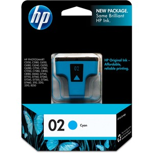 HP 02 Cyan Original Ink Cartridge HEWC8771WN