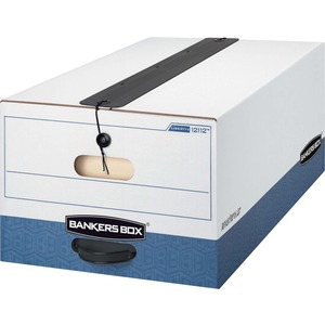 "Bankers Box Liberty Plus Storage Box - Legal - Internal Dimension 10"" Height x 15"" Width x 24"" Depth x - External Dimensions 10.75"" Height x 15.25"" Width x 24"" Depth - Plastic - White"