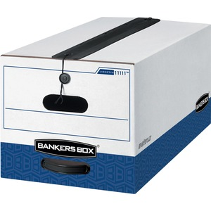 "Bankers Box Liberty Plus Storage Box - Letter - Internal Dimension 10"" Height x 12"" Width x 24"" Depth x - External Dimensions 10.75"" Height x 12.25"" Width x 24"" Depth - White"