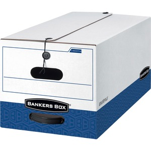 "Bankers Box Liberty Legal Storage Box - Legal - Internal Dimension 10"" Height x 15"" Width x 24"" Depth x - External Dimensions 10.75"" Height x 15.25"" Width x 24"" Depth - Plastic, Fiberboard - White"