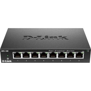 D-Link DES-108 Desktop Unmanaged Ethernet Switch