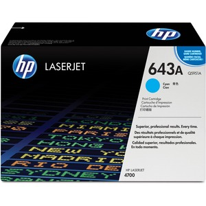 HP 643A Cyan Original LaserJet Toner Cartridge HEWQ5951A