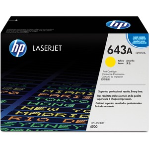 HP 643A Yellow Original LaserJet Toner Cartridge HEWQ5952A