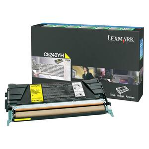 Lexmark Yellow High Yield Return Program Toner Cartridge LEXC5240YH