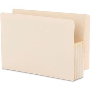 76124 Manila End Tab File Pockets with Reinforced Tab