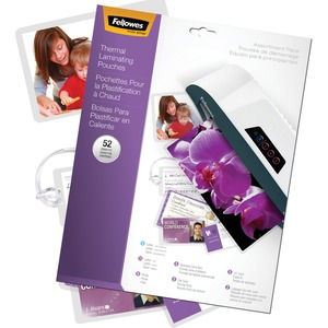 Fellowes Laminating Pouch Starter Kit, 52 pack FEL5208401