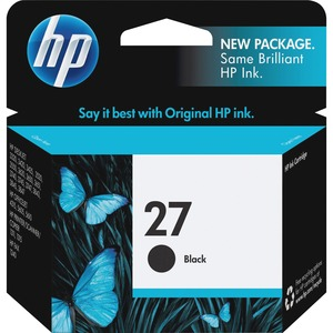 HP No. 27 Black Ink Cartridge - Inkjet - 280 Page - Black