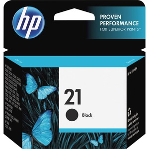 HP No. 21 Black Ink Cartridge - Inkjet - 150 Page - Black
