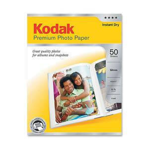 "Kodak Premium Photo Paper - Letter - 8.5"" x 11"" - Matte - 50 Sheet - White"