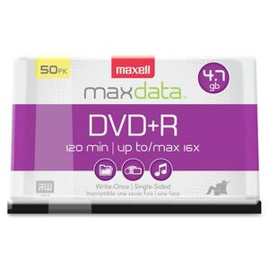 Maxell DVD Recordable Media - DVD+R - 16x - 4.70 GB - 50 Pack Spindle MAX639013