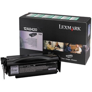 Lexmark Black Return Program Toner Cartridge LEX12A8420