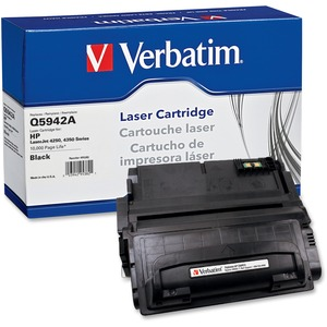 Verbatim HP Q5942A Remanufactured Toner Cartridge for LaserJet 4250, 4350 Series VER95382