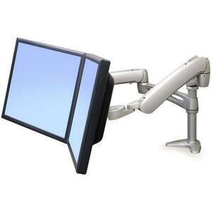 Superwarehouse   Ergotron LX Dual Desk Mount Arm, Silver, Ergotron  28 512 194