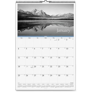 At-A-Glance Dayminder Black and White Monthly Wall Calendar AAGDMW16328