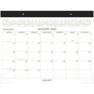 At-A-Glance Recycled 2-Color Desk Pad Calendar AAGGG250000