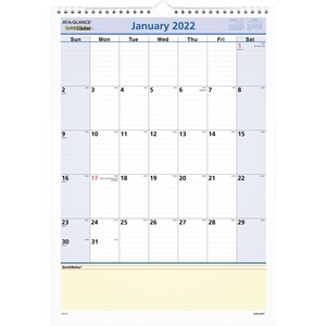 At-A-Glance QuickNotes Wall Calendar AAGPM5228