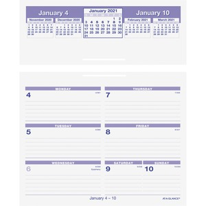 At-A-Glance Flip-A-Week Desk Calendar AAGSW700X00