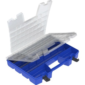 Image for Akro-mils / Myers Industries, Inc Akro-mils Portable Organizer - External Dimensions: 13.4 Width X 18.3 Depth X 3.6 Height - Latching Closure - Blue, Clear, Black - For Multipurpose - 1 Each