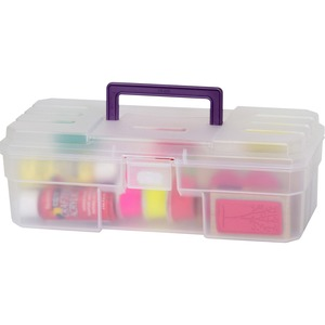 Image for Akro-mils / Myers Industries, Inc Akro-mils 12 All-purpose Storage Box - External Dimensions: 6 Width X 12 Depth X 4 Height - Latching Closure - Plastic - Clear - 1 Each