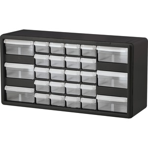 Black . Clear Drawer. Drawer Cabinet