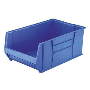 Image for Akro-mils / Myers Industries, Inc Akro-mils Super-size Akrobin - External Dimensions: 18.4 Width X 29.3 Depth X 12 Height - 300 Lb - Heavy Duty - Stackable - Polymer - Blue - 1 Each