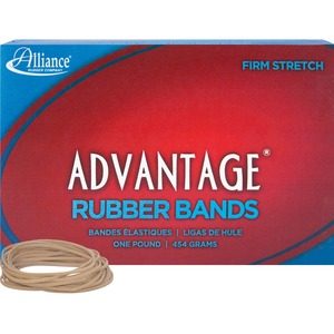 "Alliance Rubber Advantage Rubber Bands - Size: 18 - 3"" Length x 0.06"" Width - Biodegradable - 1 Box - Natural"